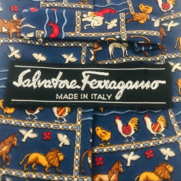 Salvatore Ferragamo Other - Salvatore Ferragamo Silk Tie: Animals, Fish, Birds